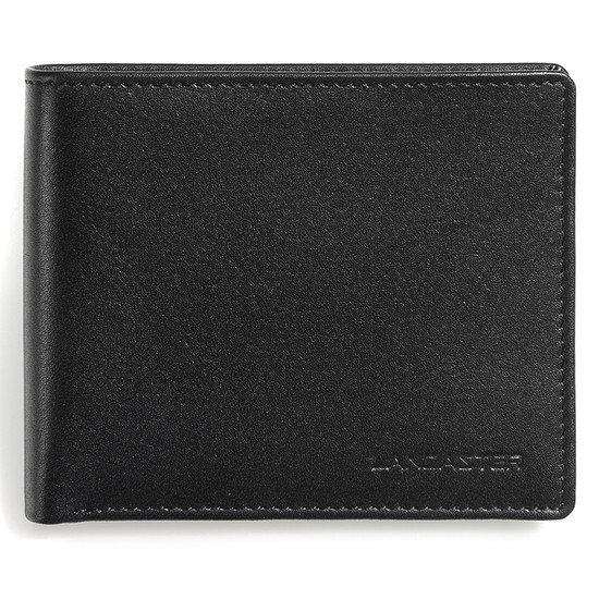 Lancaster Herren Geldbörse ohne Münzfach schwarz