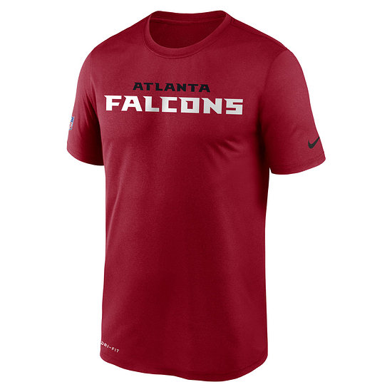 Nike Atlanta Falcons T-Shirt Team Name Sideline rot