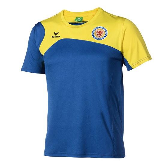 Erima Eintracht Braunschweig T-Shirt Club 1900 2.0 blau/gelb