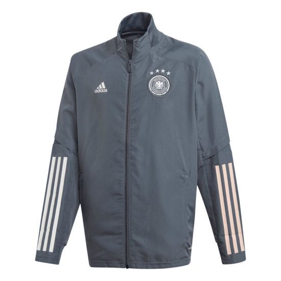 Adidas Deutschland DFB Präsentationsjacke EM 2021 Kinder Dunkelgrau