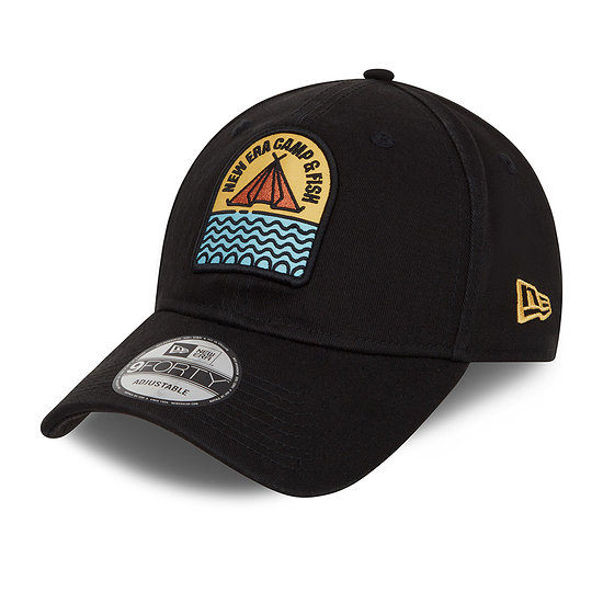 New Era Cap Camp Patch 9FORTY schwarz