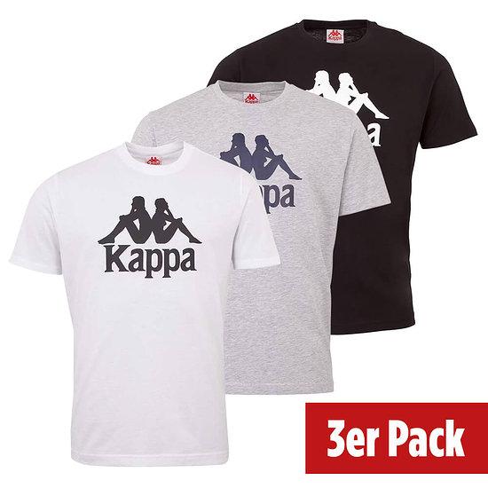 Kappa 3er Set T-Shirt CASPAR Schwarz/Grau/Weiß