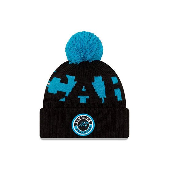 New Era Carolina Panthers Beanie On Field Sport Knit blau
