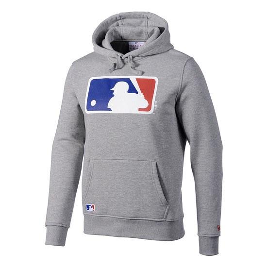 New Era Hoodie MLB Logo hellgrau