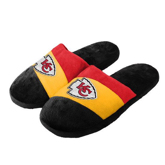 Forever Collectibles Kansas City Chiefs Hausschuhe Colourblock schwarz/gelb/rot