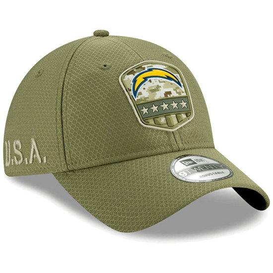 New Era Los Angeles Chargers Cap Salute To Service 9TWENTY oliv