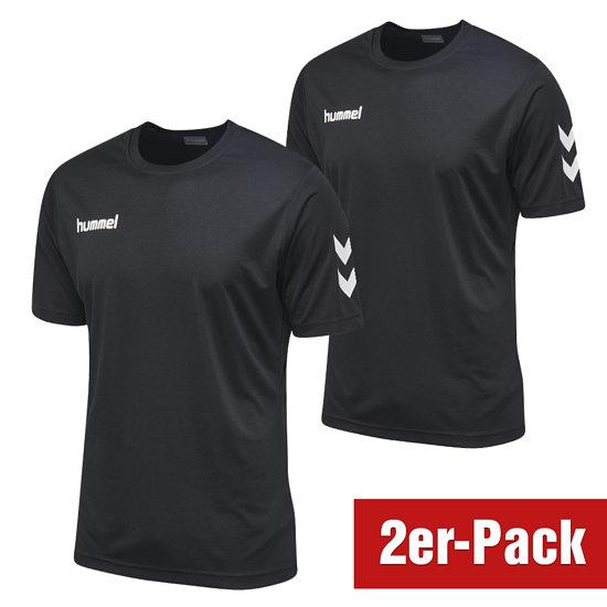 hummel 2er Set T-Shirt Core Poly Schwarz