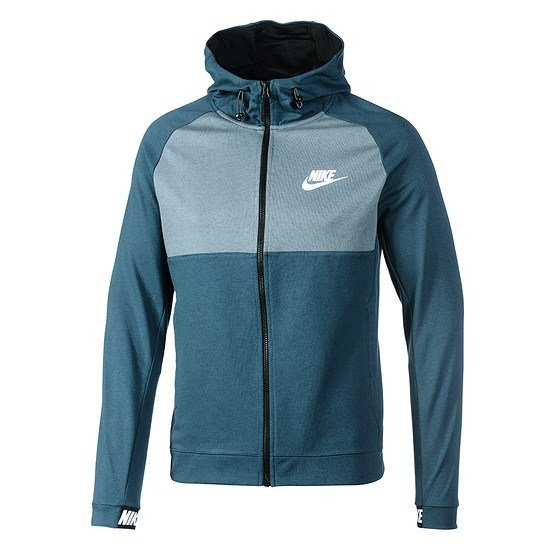 Nike Zip Hoodie Sportswear Advance Blau/Schwarz