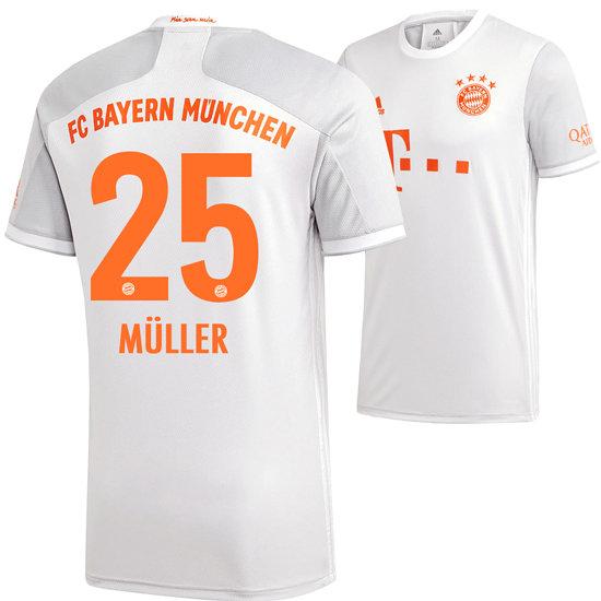 Adidas FC Bayern München Auswärts Trikot MÜLLER 2020/2021 Kinder