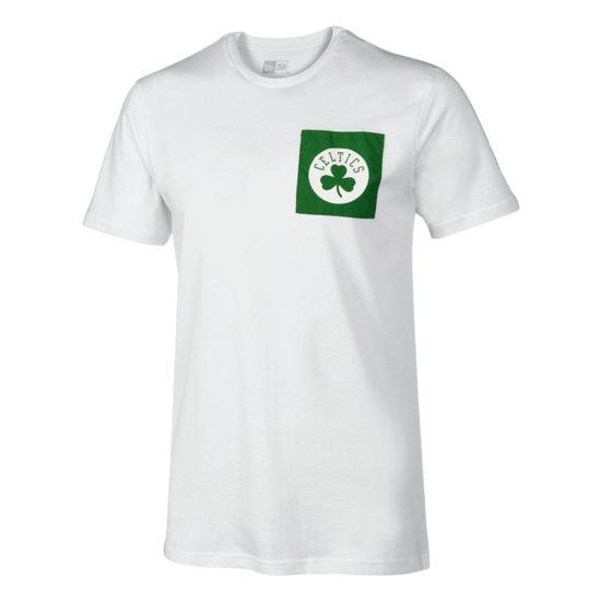 New Era Boston Celtics T-Shirt Square Logo weiß