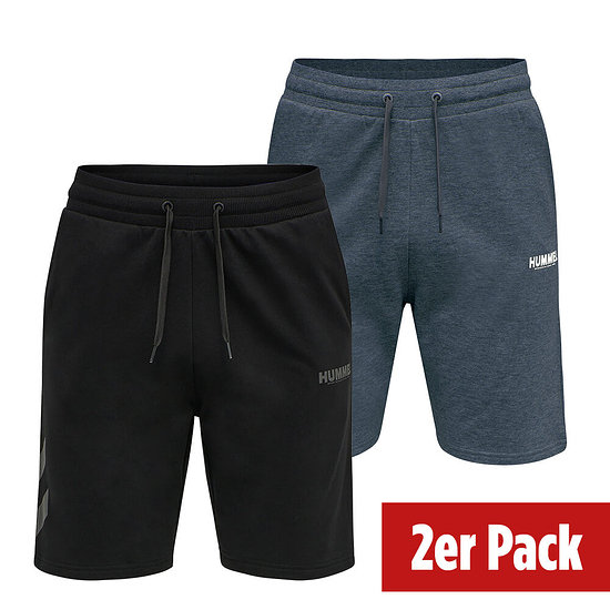 hummel 2er Set Shorts Legacy schwarz/blue nights
