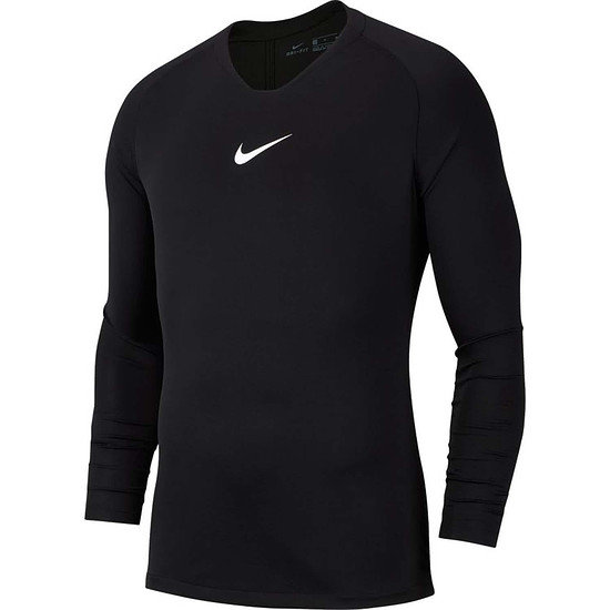 Nike Dri-FIT First Layer Park Langarm Funktionsshirt Schwarz