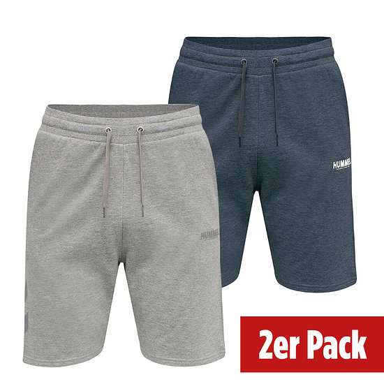 hummel 2er Set Shorts Legacy grau/blue nights