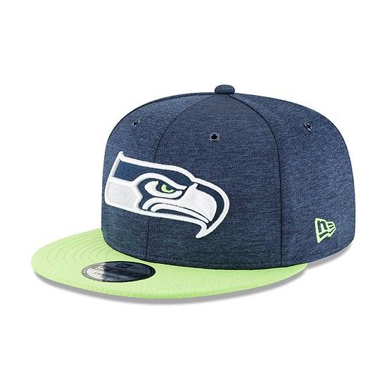 New Era Seattle Seahawks Cap 9FIFTY Sideline blau