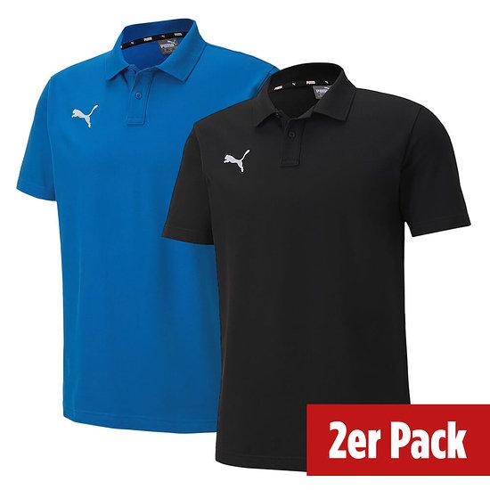 Puma 2er Set Poloshirt GOAL Freizeit Schwarz/Blau