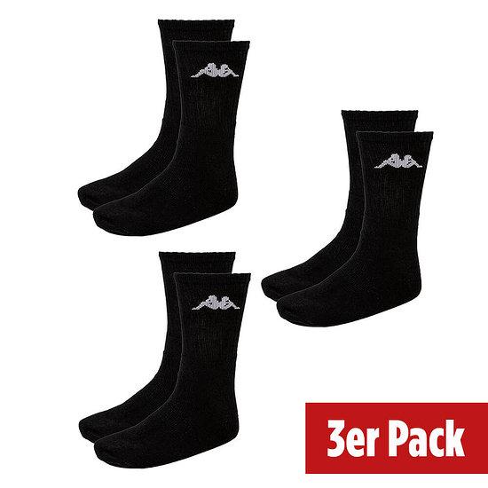 Kappa Sportsocken 3er Pack Schwarz