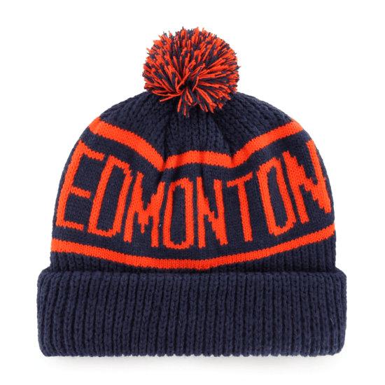 47 Brand Edmonton Oilers Beanie Calgary navy