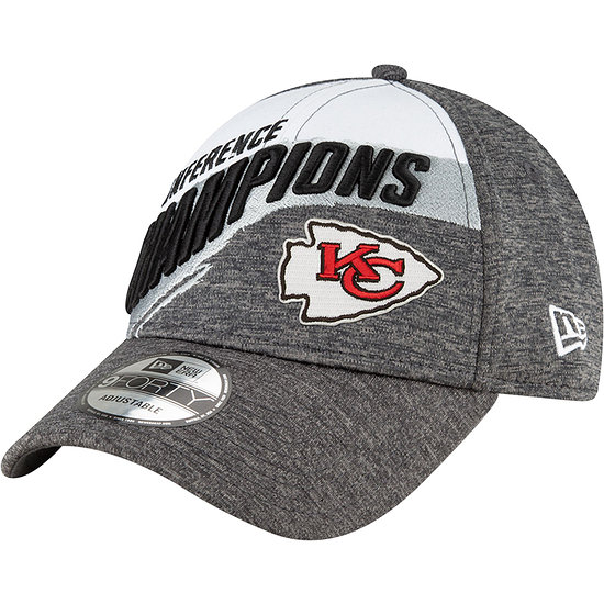 New Era Kansas City Chiefs Cap Conference Champion 9FORTY grau
