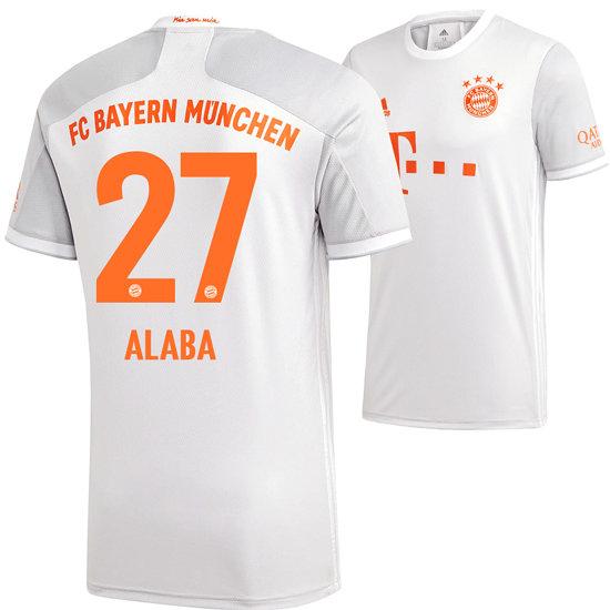 Adidas FC Bayern München Auswärts Trikot ALABA 2020/2021 Kinder
