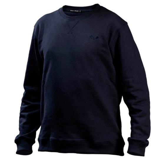 Cotton Butcher Sweatshirt Alabama Rundhals blau