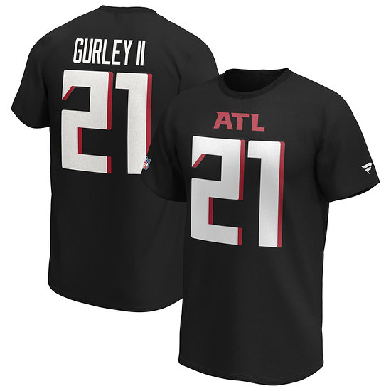 Fanatics Atlanta Falcons T-Shirt Iconic N&N Gurley II No 21 schwarz