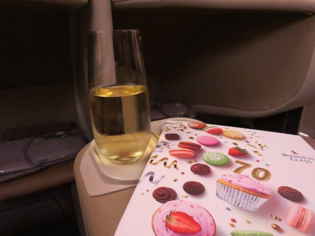 Singapore Airlines Business Class Menü