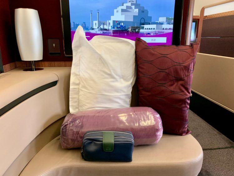 Qatar Airways First Class A380 Amenity Kit