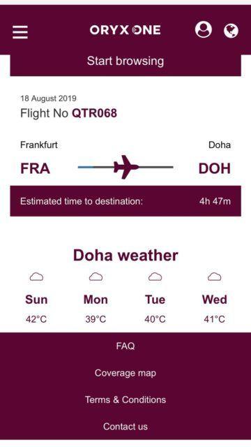Qatar Airways First Class A380 Internet
