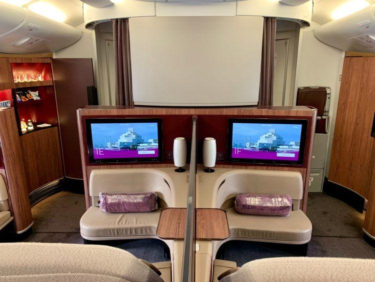 Qatar Airways First Class A380 Kabine