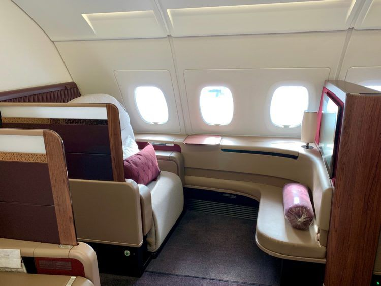 Qatar Airways First Class A380 Sitz