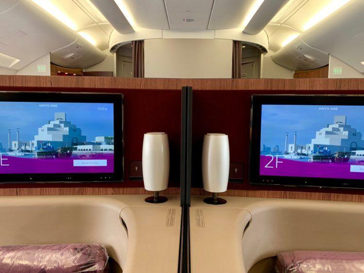 Qatar Airways First Class A380 Mittelsitze