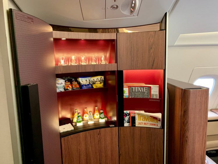 Qatar Airways First Class A380 Snackbar