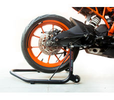 Rear Paddock Stand with Swing Arm Rest - Non Dismantlable Black