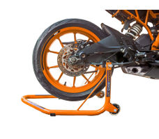 Rear Paddock Stand with Swing Arm Rest - Non Dismantlable Orange