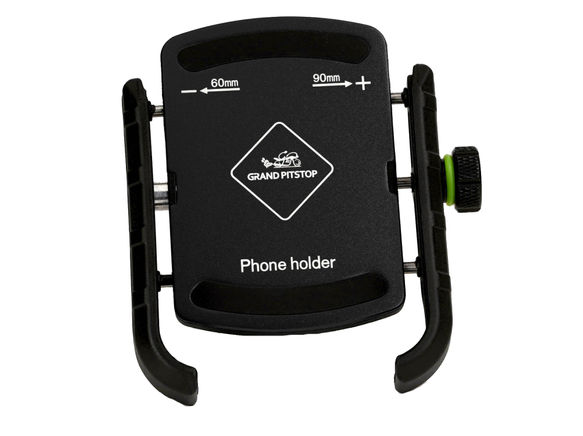 GRANDPITSTOP JAW GRIP MOBILE HOLDER WITHOUT CHARGER (ALUMINIUM)- BLACK