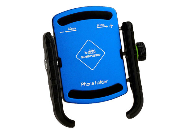 Jaw Grip Mobile Holder Without Charger (Aluminium)- Blue
