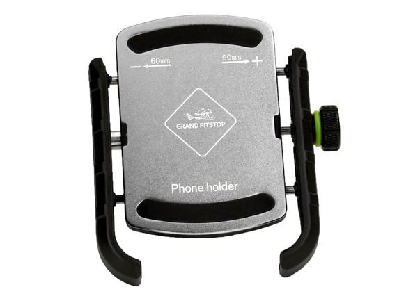 GRANDPITSTOP JAW GRIP MOBILE HOLDER WITHOUT CHARGER (ALUMINIUM)- SILVER