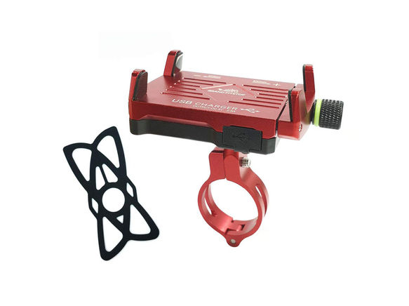 GrandPitstop Claw-Grip Mobile Holder Mount with Charger - Red