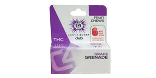 Canna Burst - Grape Grenade Sativa Fruit Chews Product Image