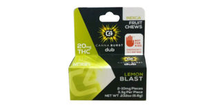 Canna Burst - Lemon Blast Indica Fruit Chews Product Image