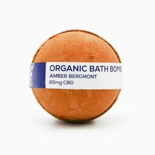 CBD Living Bath Bomb 8 oz 60mg Amber Bergamot Product Image