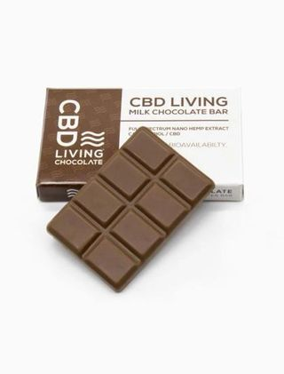 CBD Living Milk Chocolate Bar 120mg Product Image