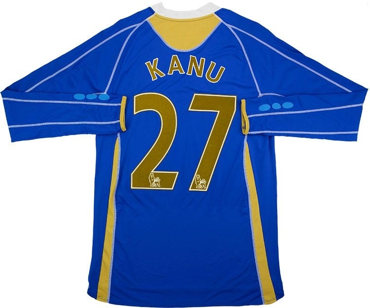 2007-08 Portsmouth Home Shirt Kanu #27