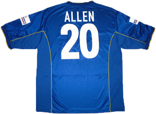 2000-02 Portsmouth Match Issue Home Shirt Allen #20
