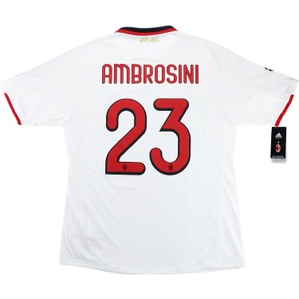 2009-10 AC Milan Player Issue CL Away Shirt Ambrosini #23 *w/Tags* XL