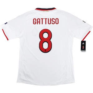 2009-10 AC Milan Player Issue CL Away Shirt Gattuso #8 *w/Tags* XL