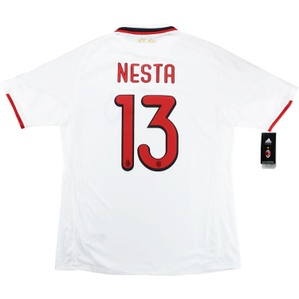 2009-10 AC Milan Player Issue CL Away Shirt Nesta #13 *w/Tags* XL