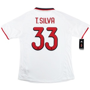 2009-10 AC Milan Player Issue CL Away Shirt T.Silva #33 *w/Tags* XL