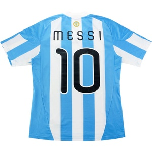 2010-11 Argentina Home Shirt Messi #10 (Excellent) L