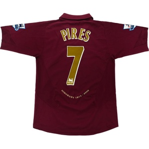 2005-06 Arsenal Home Shirt Pires #7 (Excellent) S